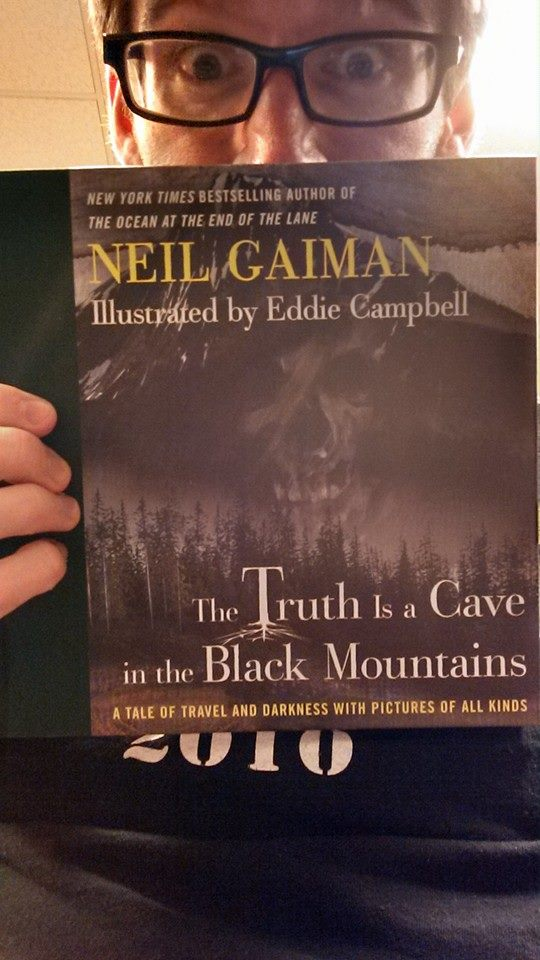 reading the truth is a cave in the mountains