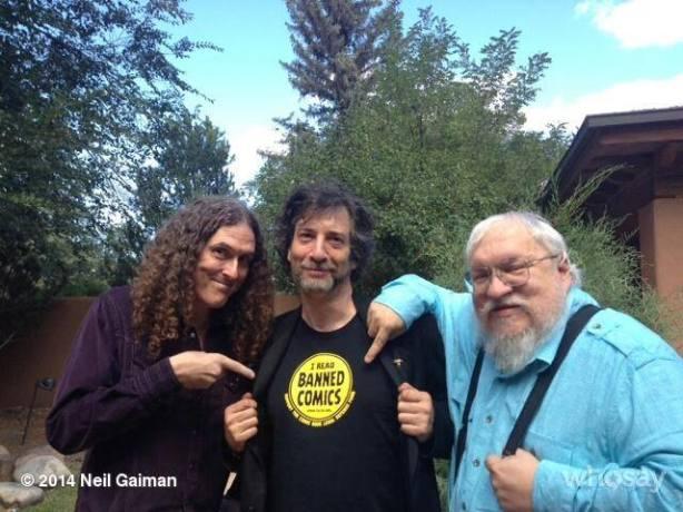 Neil Gaiman-Weird Al-George RR Martin