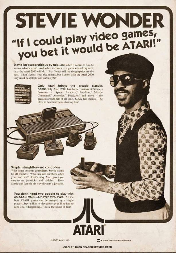 stevie wonder atari ad